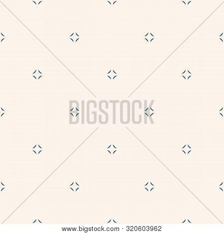Simple Minimal Vector Seamless Pattern. Abstract Monochrome Geometric Texture. Subtle Minimalist Bac