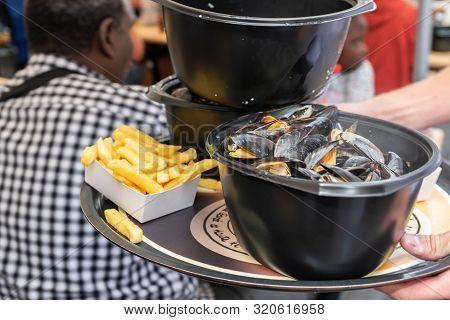 Lille,france-september 01,2019: Great Lille Braderie (braderie De Lille).traditional Dish On Lille B