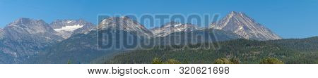 Panorama Of Beautiful Trees And Forest In Whistler/blackcomb, Wedgemont Mountain And The Singing Pas