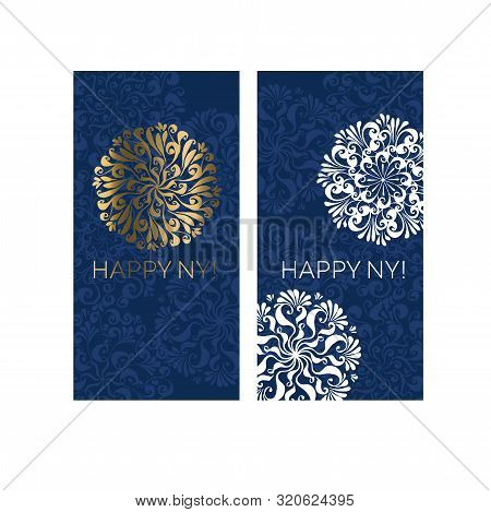 Glamour White And Gold Classic Snowflake Card. Christmas Vector Illustration For Cards, Invitation,