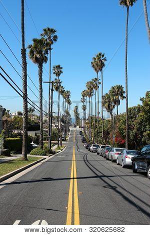 Santa Monica, United States - April 6, 2014: Street View In Santa Monica, California. As Of 2012 Mor