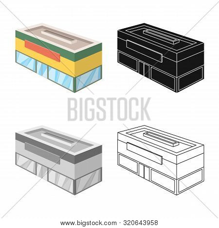 Isolated Object Of Shop And Antiquarian Logo. Set Of Shop And Modern Stock Vector Illustration.