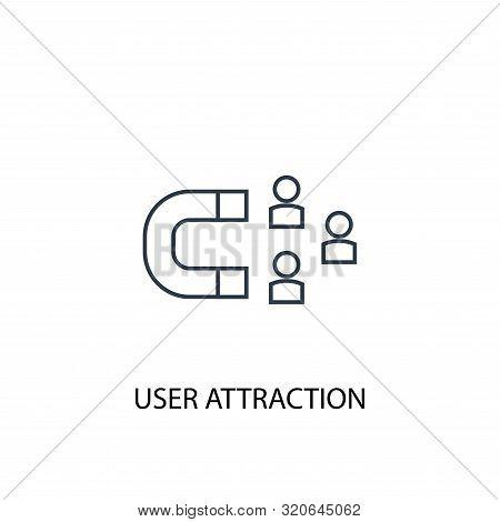 User Attraction Concept Line Icon. Simple Element Illustration. User Attraction Concept Outline Symb