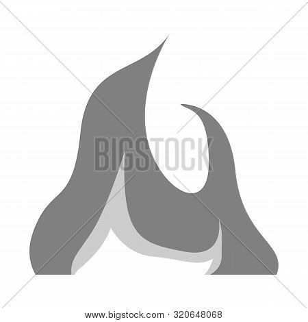 Vector Design Of Flame And Magic Icon. Set Of Flame And Broil Stock Symbol For Web.