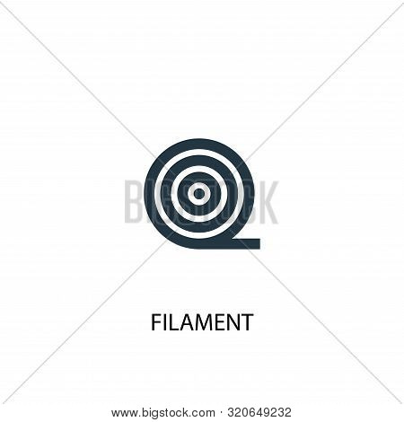 Filament Icon. Simple Element Illustration. Filament Concept Symbol Design. Can Be Used For Web