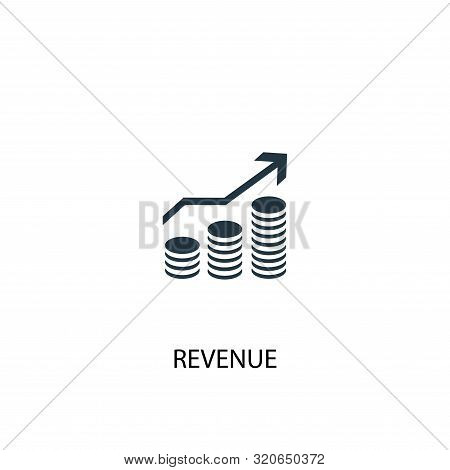 Revenue Icon. Simple Element Illustration. Revenue Concept Symbol Design. Can Be Used For Web