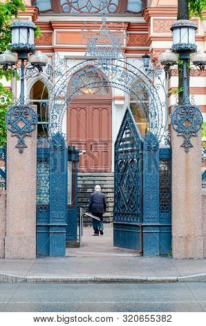 Grand Choral Synagogue With Gate That Reads: