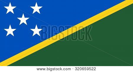 Flag Of The Solomon Islands Vector Illustration, Worlds Flags Collection