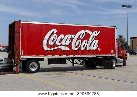 Champaign - Circa August 2019: Coca-cola Delivery Truck. Coke Products Are Among The Best Selling So