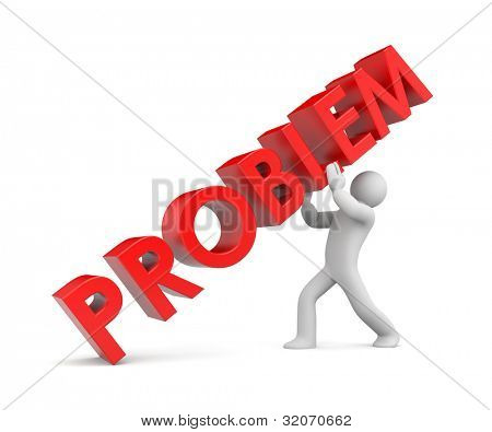 Solving the problem. Image contain clipping path poster