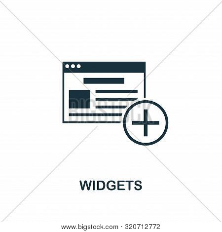 Widgets Icon. Creative Element Design From Content Icons Collection. Pixel Perfect Widgets Icon For