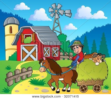 Farm theme image 6 - vector illustration.