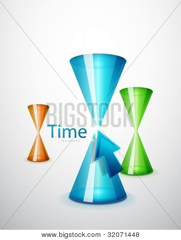 Hi-tech hourglass concept