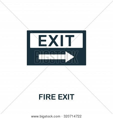 Fire Exit Icon. Creative Element Design From Fire Safety Icons Collection. Pixel Perfect Fire Exit I