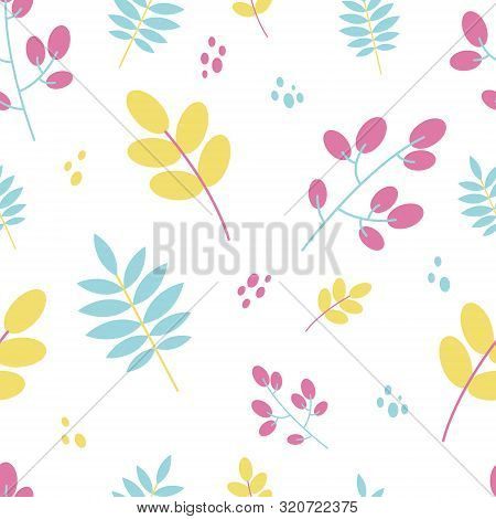 Modern Flat Seamless Pattern For Bedding, Cloth, Textile. Fall Fashion
