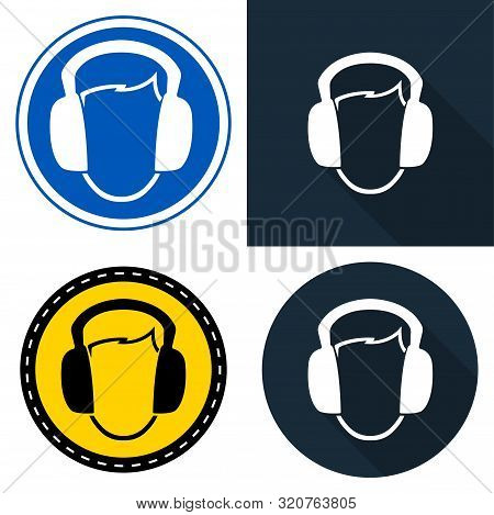 Symbol Wear Ear Muff Symbol Sign Isolate On White Background,vector Illustration