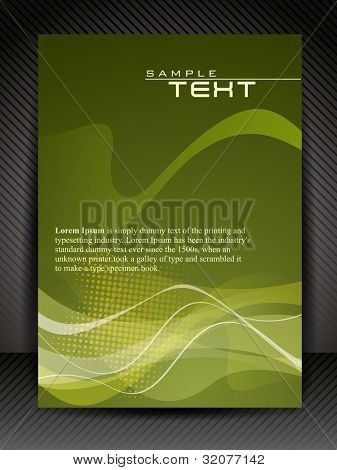 Professional business flyer template or corporate banner design for  publishing, print and presentation. Vector illustration in EPS 10. poster