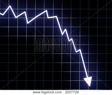 Flèche graphique descendant