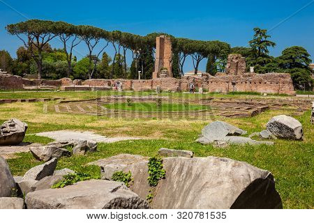 Peristyle With Octagonal Island At The Flavian Palace Also Known As The Domus Flavia On The Palatine