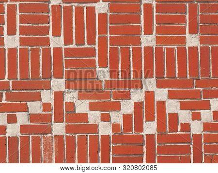 Historic Bricks Of A Residential Brick Housing Near Hamburg, Germany
