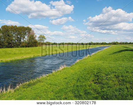 Creek And Agricultural Area East Of Hamburg, Germany