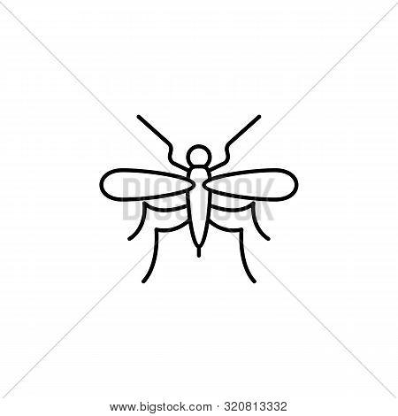 Mosquito Line Icon. Element Of Jungle For Mobile Concept And Web Apps Illustrati