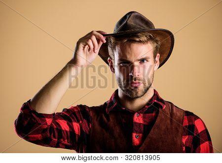 Cowboy Wearing Hat. American Cowboy. Beauty Standard. Example Of True Masculinity. Western Life. Man