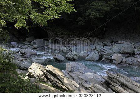 Iya River At Iya Valley, Tokushima, Japan