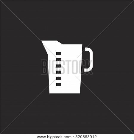 Measuring Jar Icon. Measuring Jar Icon Vector Flat Illustration For Graphic And Web Design Isolated