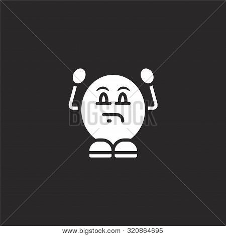 Annoyed Icon. Annoyed Icon Vector Flat Illustration For Graphic And Web Design Isolated On Black Bac