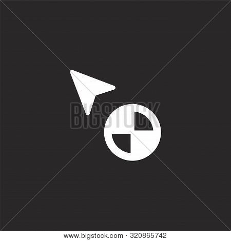 Load Icon. Load Icon Vector Flat Illustration For Graphic And Web Design Isolated On Black Backgroun