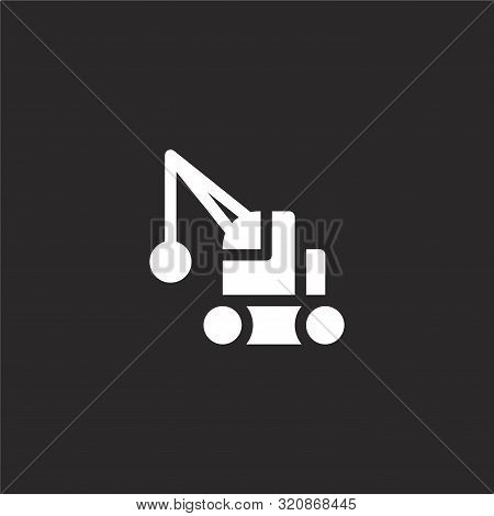 Wrecking Ball Icon. Wrecking Ball Icon Vector Flat Illustration For Graphic And Web Design Isolated