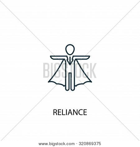 Reliance Concept Line Icon. Simple Element Illustration. Reliance Concept Outline Symbol Design. Can
