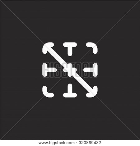Diagonal Icon. Diagonal Icon Vector Flat Illustration For Graphic And Web Design Isolated On Black B
