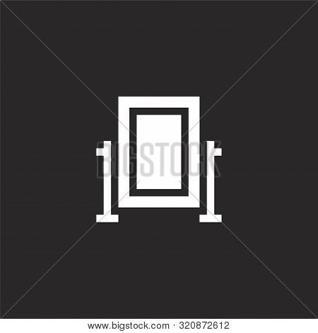 Full Length Mirror Icon. Full Length Mirror Icon Vector Flat Illustration For Graphic And Web Design