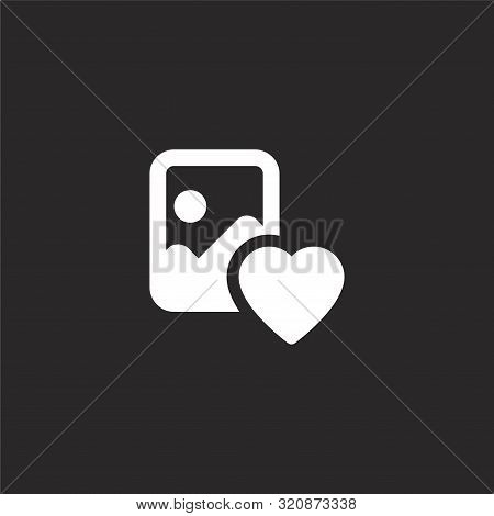 Image Icon. Image Icon Vector Flat Illustration For Graphic And Web Design Isolated On Black Backgro