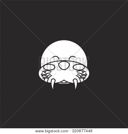 Walrus Icon. Walrus Icon Vector Flat Illustration For Graphic And Web Design Isolated On Black Backg