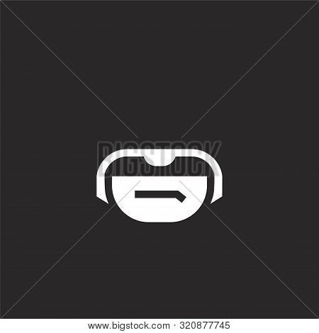 Belt Pouch Icon. Belt Pouch Icon Vector Flat Illustration For Graphic And Web Design Isolated On Bla