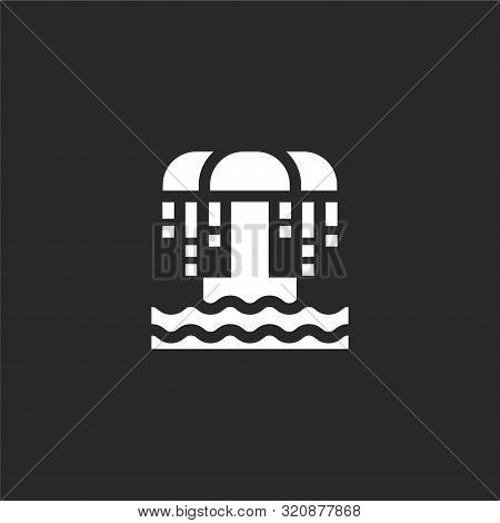 Shower Icon. Shower Icon Vector Flat Illustration For Graphic And Web Design Isolated On Black Backg