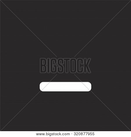 Minus Icon. Minus Icon Vector Flat Illustration For Graphic And Web Design Isolated On Black Backgro