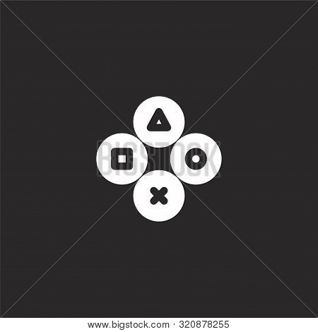 Controller Icon. Controller Icon Vector Flat Illustration For Graphic And Web Design Isolated On Bla