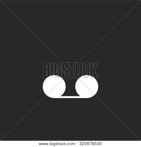 Record Icon. Record Icon Vector Flat Illustration For Graphic And Web Design Isolated On Black Backg