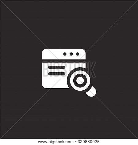 Magnifying Glass Icon. Magnifying Glass Icon Vector Flat Illustration For Graphic And Web Design Iso