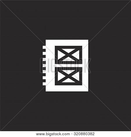 Photo Album Icon. Photo Album Icon Vector Flat Illustration For Graphic And Web Design Isolated On B