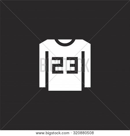 Tshirt Icon. Tshirt Icon Vector Flat Illustration For Graphic And Web Design Isolated On Black Backg