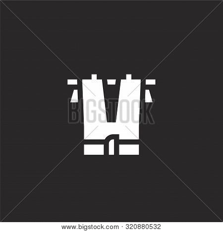 Trousers Icon. Trousers Icon Vector Flat Illustration For Graphic And Web Design Isolated On Black B
