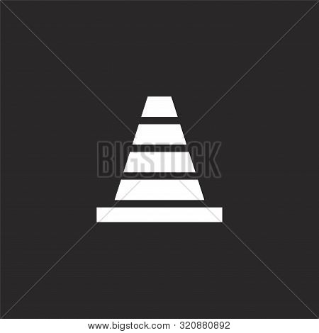 Traffic Cone Icon. Traffic Cone Icon Vector Flat Illustration For Graphic And Web Design Isolated On