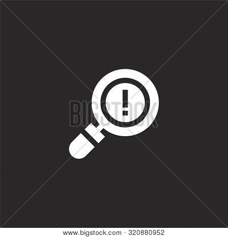 Exclamation Icon. Exclamation Icon Vector Flat Illustration For Graphic And Web Design Isolated On B