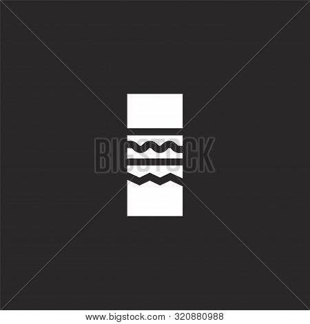 Bracelet Icon. Bracelet Icon Vector Flat Illustration For Graphic And Web Design Isolated On Black B
