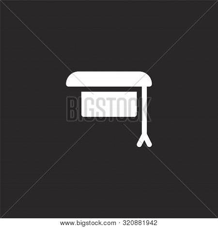 Mortarboard Icon. Mortarboard Icon Vector Flat Illustration For Graphic And Web Design Isolated On B